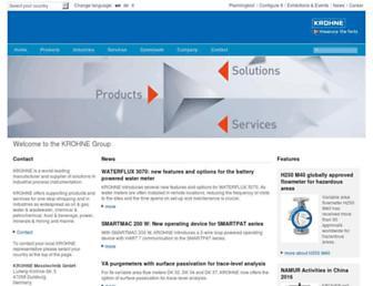 krohne.com screenshot