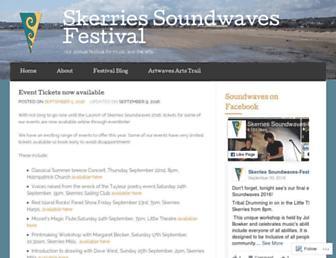 skerriessoundwaves.com screenshot