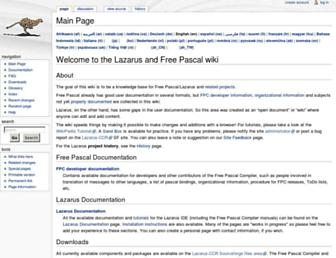 wiki.lazarus.freepascal.org screenshot