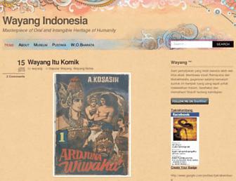 wayang.wordpress.com screenshot