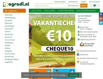 Main page screenshot of agradi.nl