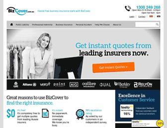 bizcover.com.au screenshot
