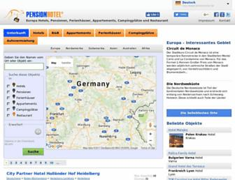 pensionhotel.de screenshot