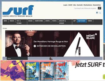 Main page screenshot of surf-magazin.de