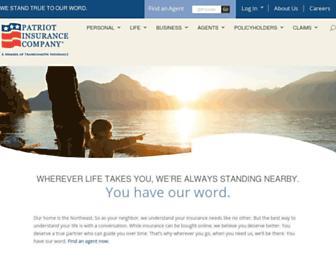 patriotinsuranceco.com screenshot