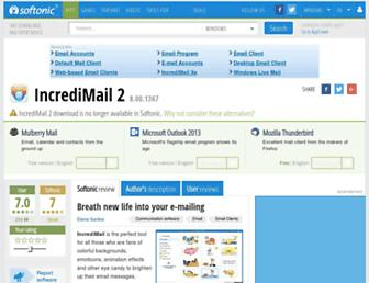 incredimail-2.en.softonic.com screenshot