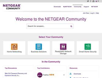 community.netgear.com screenshot
