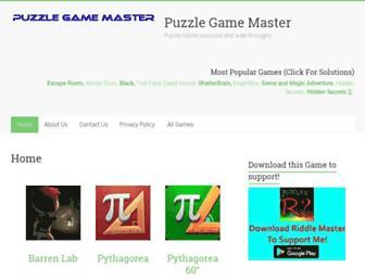 puzzlegamemaster.com screenshot
