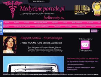 Main page screenshot of feelbeauty.eu