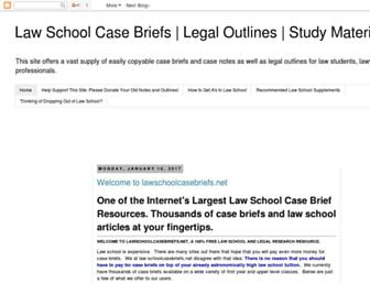 lawschoolcasebriefs.net screenshot