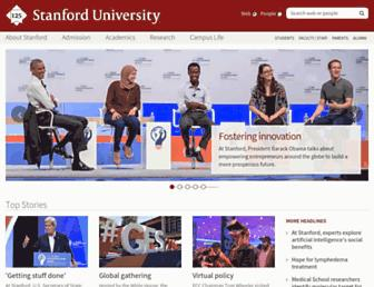 Main page screenshot of stanford.edu