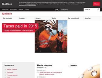 Thumbshot of Riotinto.com