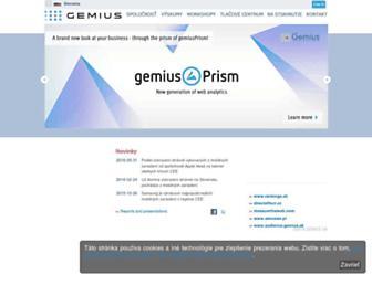 Main page screenshot of gemius.sk