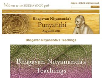 siddhayoga.org screenshot
