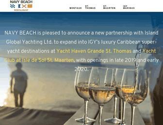 navybeach.com screenshot