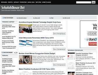 sekolahdasar.net screenshot