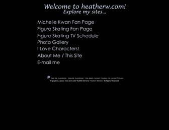 heatherw.com screenshot