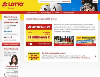 lotto-bremen.de screenshot