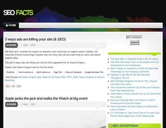 Main page screenshot of seofacts.biz