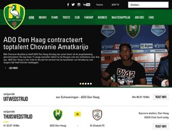 Main page screenshot of adodenhaag.nl