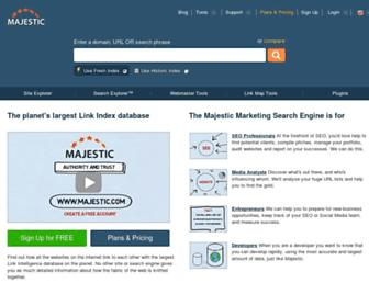 Thumbshot of Majestic.com