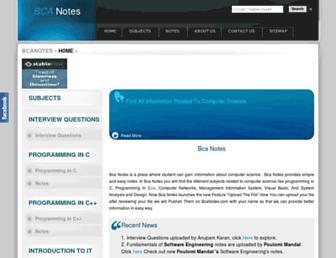 bcanotes.com screenshot