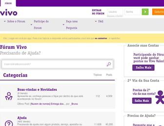 forum.vivo.com.br screenshot