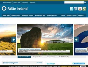 Main page screenshot of failteireland.ie