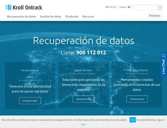 ontrackdatarecovery.es screenshot