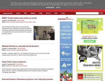 Main page screenshot of ceskaskola.cz