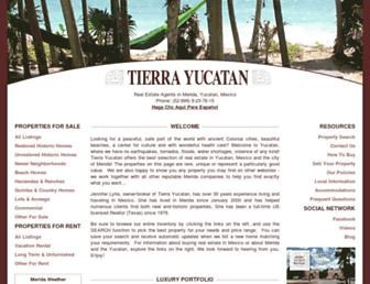 tierrayucatan.com screenshot