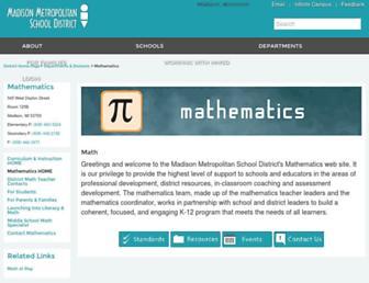 math.madison.k12.wi.us screenshot