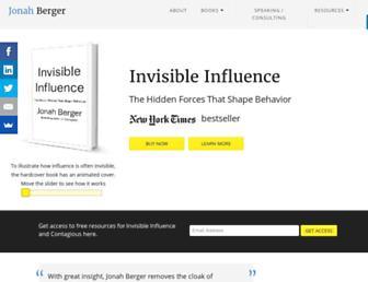 jonahberger.com screenshot