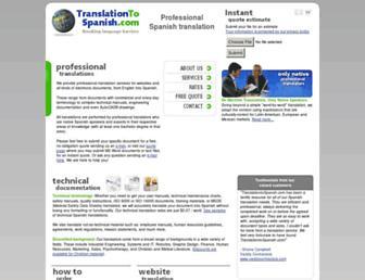 translationtospanish.com screenshot