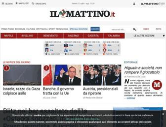 Main page screenshot of ilmattino.it