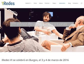 Main page screenshot of iredes.es