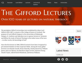 Thumbshot of Giffordlectures.org