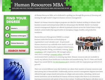 humanresourcesmba.net screenshot