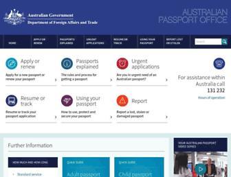 Thumbshot of Passports.gov.au