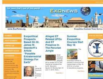 exonews.org screenshot