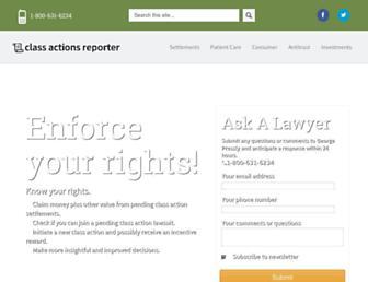 classactionsreporter.com screenshot
