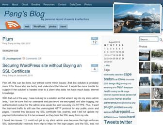 pengzhang.ca screenshot