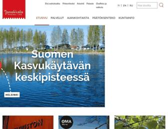 Main page screenshot of janakkala.fi