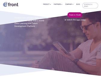 efrontlearning.com screenshot