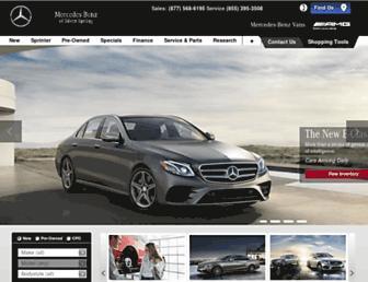 mercedesbenzsilverspring.net screenshot