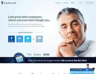 brandyourself.com screenshot