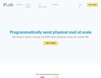 lob.com screenshot