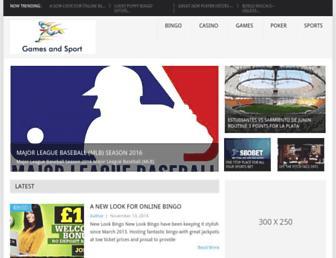 Thumbshot of Gamesandsport.com