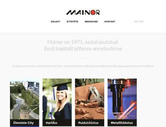 mainor.ee screenshot