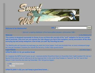 Main page screenshot of websmurfer.devnull.net